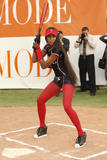 Naomi Campbell as Elle Magazine's star softball player on the set of Ugly Betty in Los Angeles