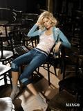 Karolina Kurkova in skimpy outfits in photoshoot for Mango -