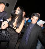 Nicole Scherzinger with nice cleavage leaving pre grammy party at Avalon Nightclub in Hollywood